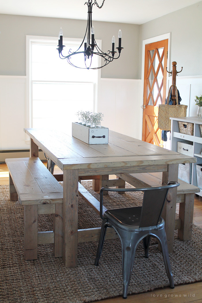 Best ideas about DIY Rustic Kitchen Tables . Save or Pin DIY Farmhouse Table Love Grows Wild Now.
