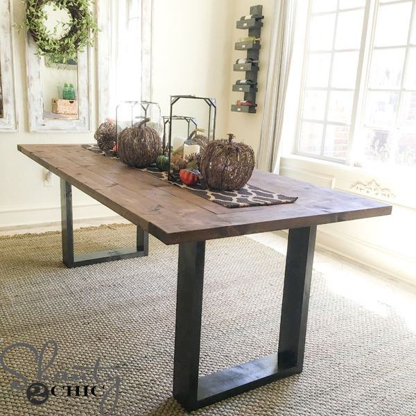 Best ideas about DIY Rustic Kitchen Tables . Save or Pin DIY Rustic Modern Dining Table Pallets Galore Now.