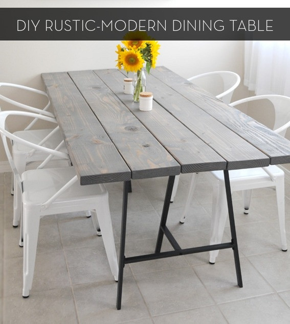 Best ideas about DIY Rustic Kitchen Tables . Save or Pin Make It A Rustic Modern DIY Dining Table Now.