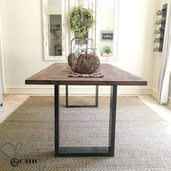 Best ideas about DIY Rustic Kitchen Tables . Save or Pin DIY Rustic Modern Dining Table Shanty 2 Chic Now.
