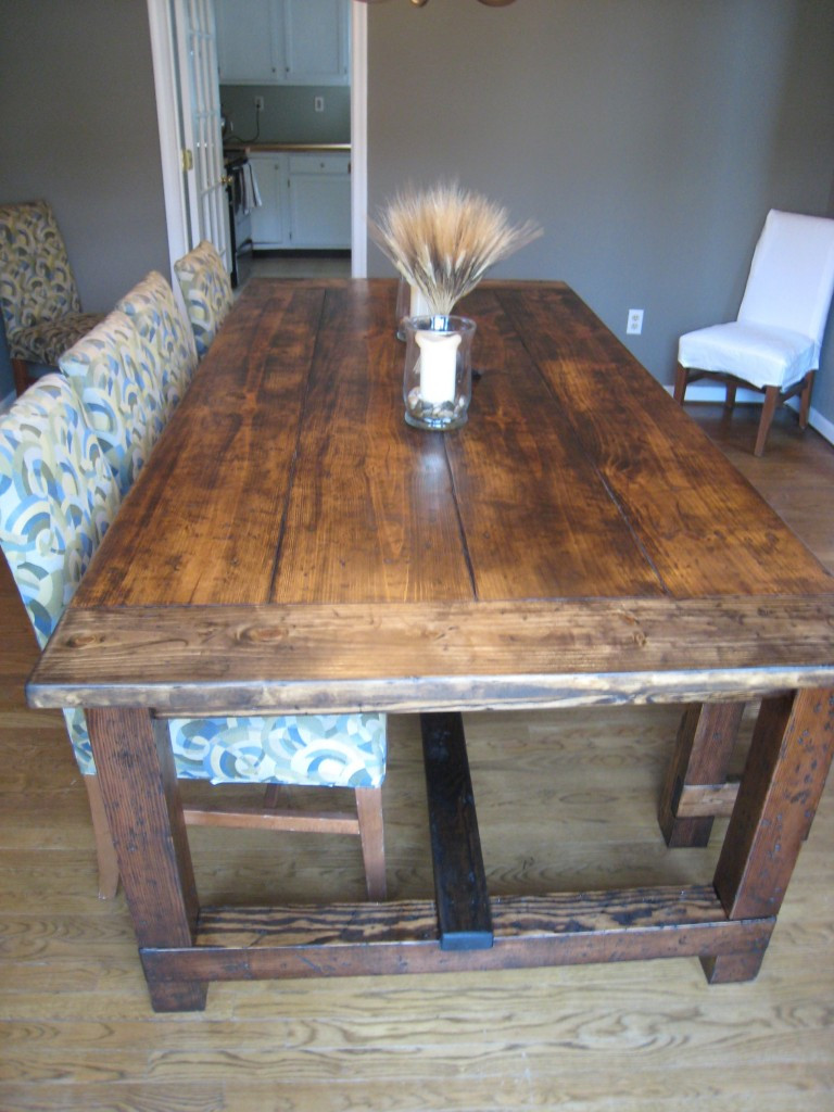 Best ideas about DIY Rustic Kitchen Tables . Save or Pin DIY Friday Rustic Farmhouse Dining Table Now.