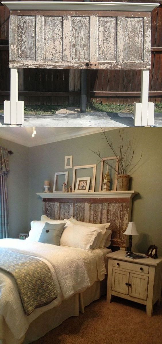 Best ideas about DIY Rustic Wood Headboard . Save or Pin 30 Rustic Wood Headboard DIY Ideas Hative Now.