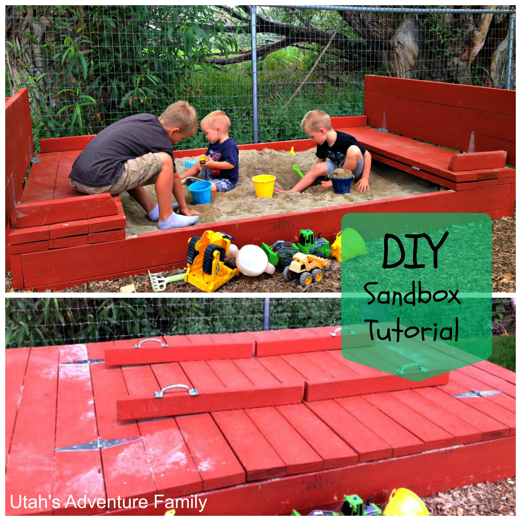 Best ideas about DIY Sandbox With Cover . Save or Pin Build Your Own Sandbox Now.