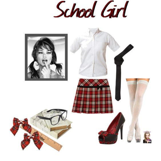 """Best ideas about DIY School Girl Costume . Save or Pin """"DIY School Girl Halloween Costume"""" by jessicaleila on Now."""