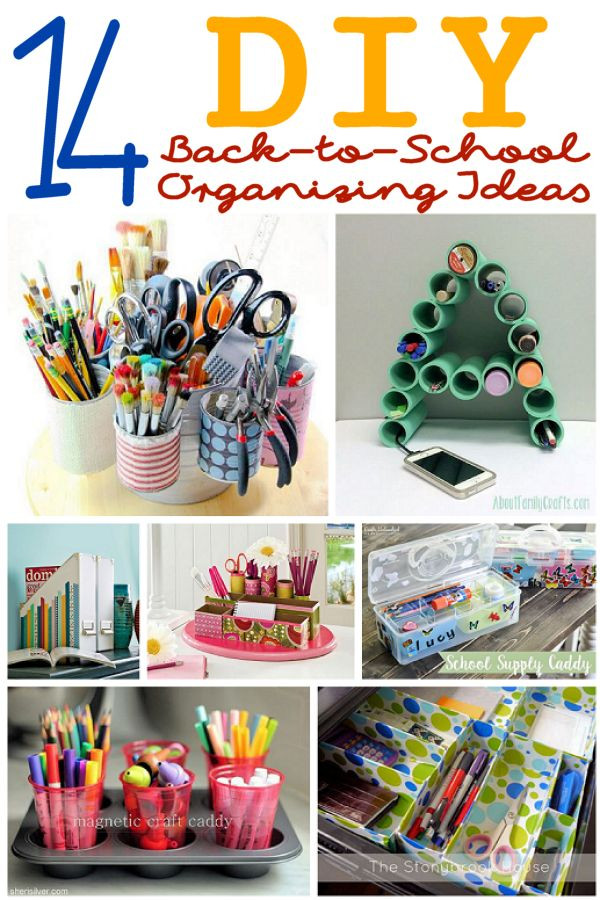 Best ideas about DIY School Organization Ideas . Save or Pin 14 DIY Organizing Ideas for Back to School – About Family Now.