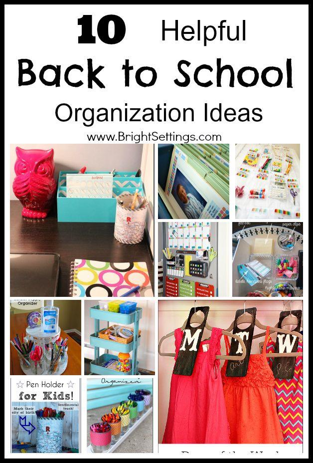 Best ideas about DIY School Organization Ideas . Save or Pin 10 Helpful Back to School Organization Ideas Make the Now.