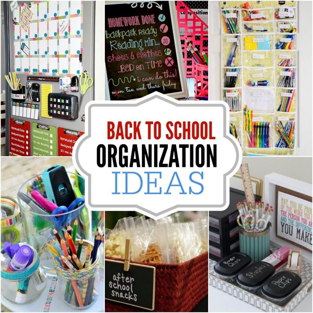 Best ideas about DIY School Organization Ideas . Save or Pin DIY back to school organization ideas 15 DIY back to Now.