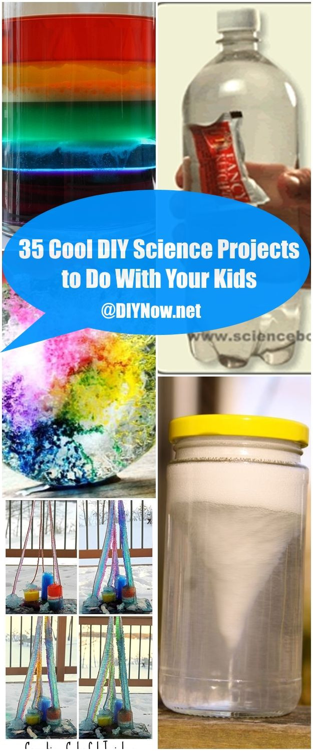 Best ideas about DIY Science Experiments . Save or Pin 35 Cool DIY Science Projects to Do With Your Kids – DIYNow Now.