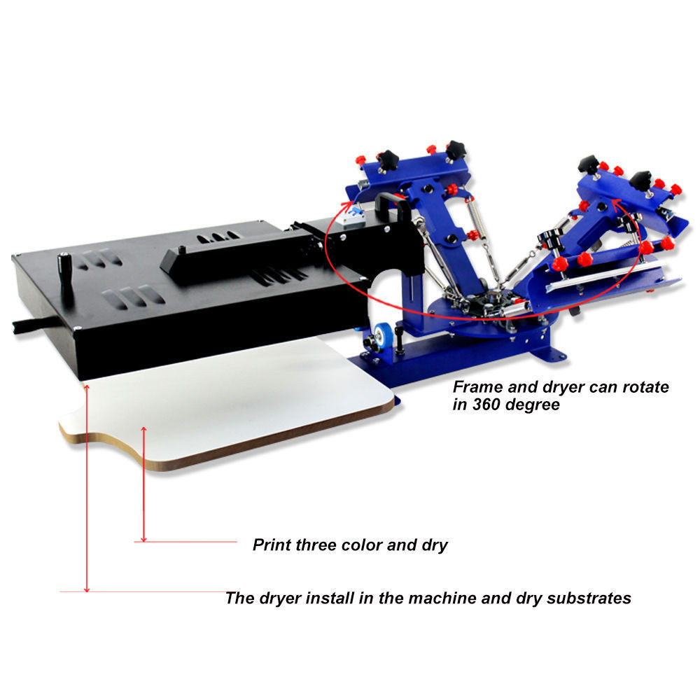 Best ideas about DIY Screen Printing Press . Save or Pin Micro adjust 3 Color 1 Station Silk Screen Printing Press Now.