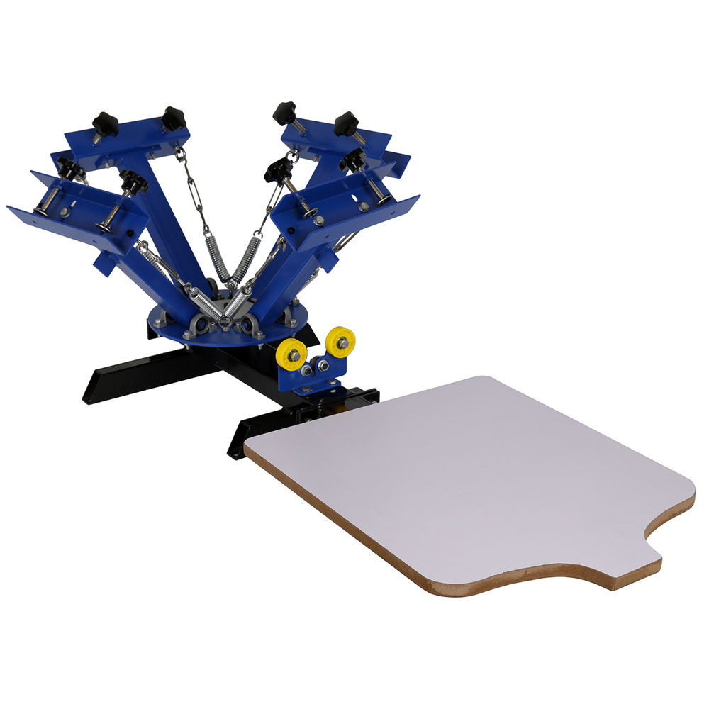 Best ideas about DIY Screen Printing Press . Save or Pin 4 Color Silk Screen Printing Machine 1 Single Station Now.