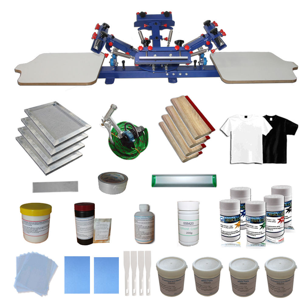 Best ideas about DIY Screen Printing Press . Save or Pin 4 Color Silk Screen Printing DIY Kit Material Package &2 Now.