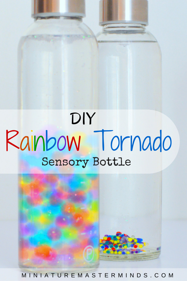 Best ideas about DIY Sensory Bottles . Save or Pin DIY Rainbow Tornado Sensory Bottle – Miniature Masterminds Now.