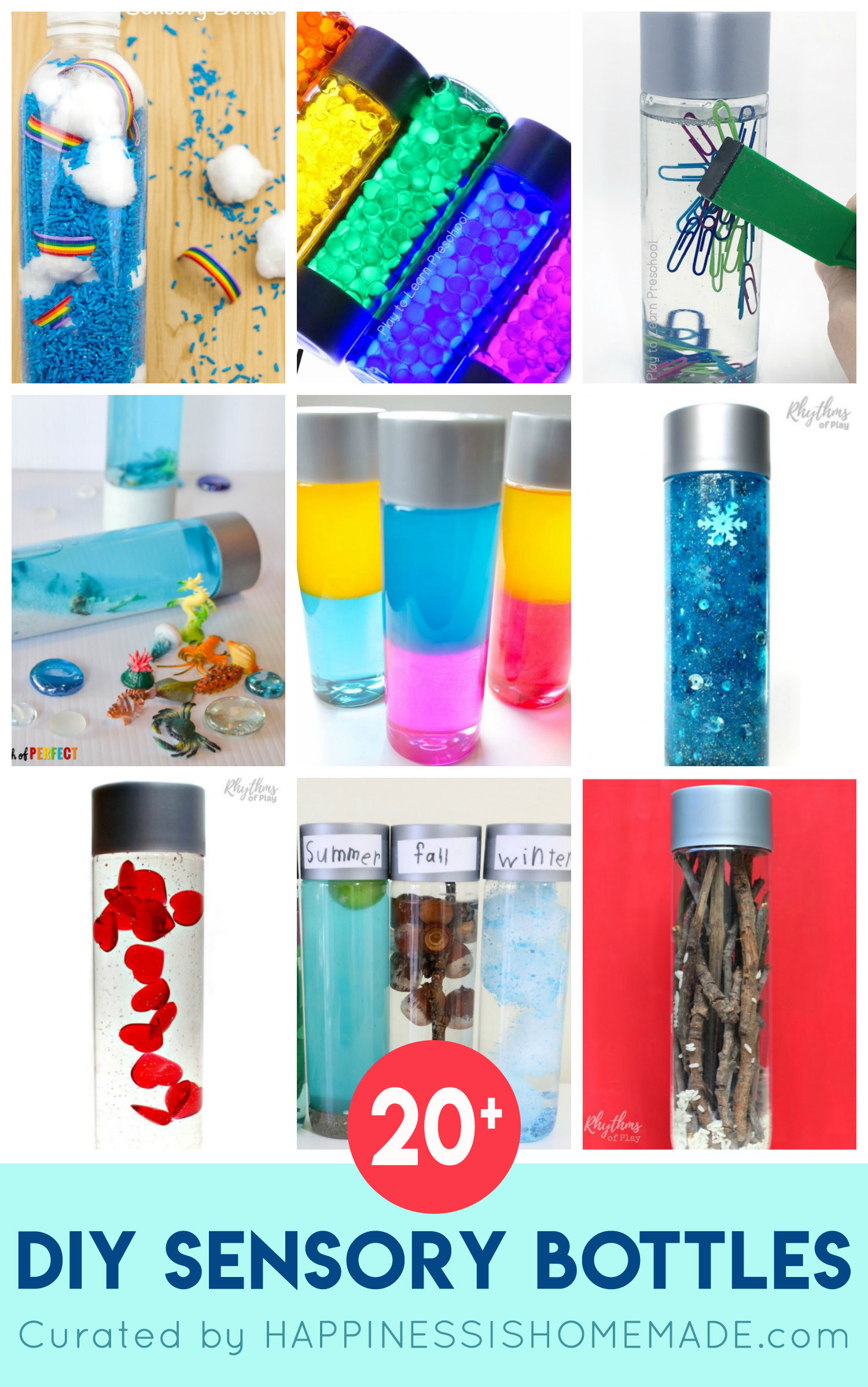 Best ideas about DIY Sensory Bottles . Save or Pin DIY Sensory Bottles for Kids Happiness is Homemade Now.