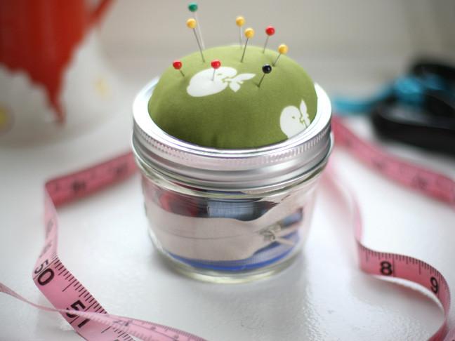 Best ideas about DIY Sewing Kit . Save or Pin DIY Mason Jar Sewing Kit Now.