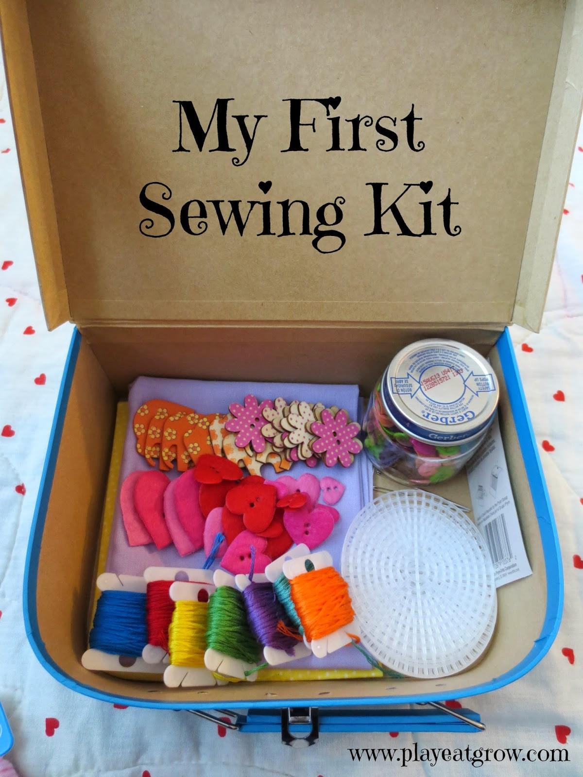 Best ideas about DIY Sewing Kit . Save or Pin DIY First Sewing Kit Play Eat Grow Now.