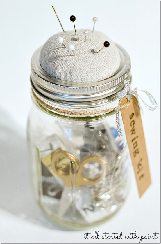 Best ideas about DIY Sewing Kit . Save or Pin Mason Jar Sewing Kit Now.