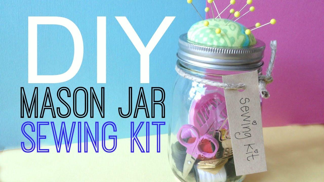 Best ideas about DIY Sewing Kit . Save or Pin DIY Sewing Kit Mason Jar Now.