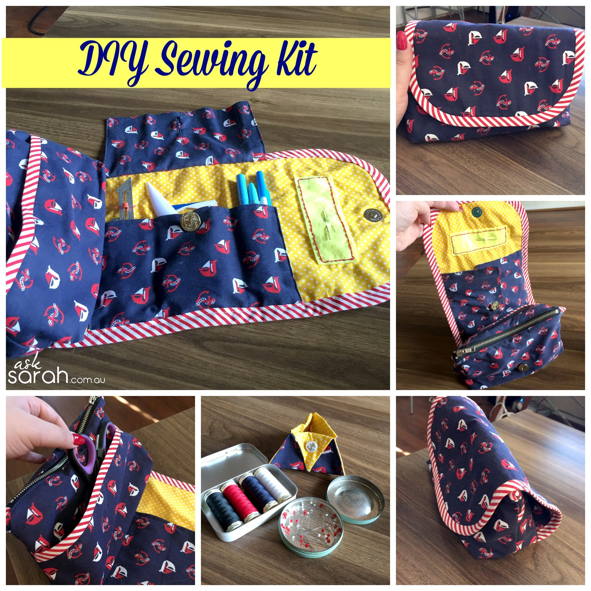 Best ideas about DIY Sewing Kit . Save or Pin Sew DIY Portable Sewing Kit Caddy Organizer Sort of a Now.