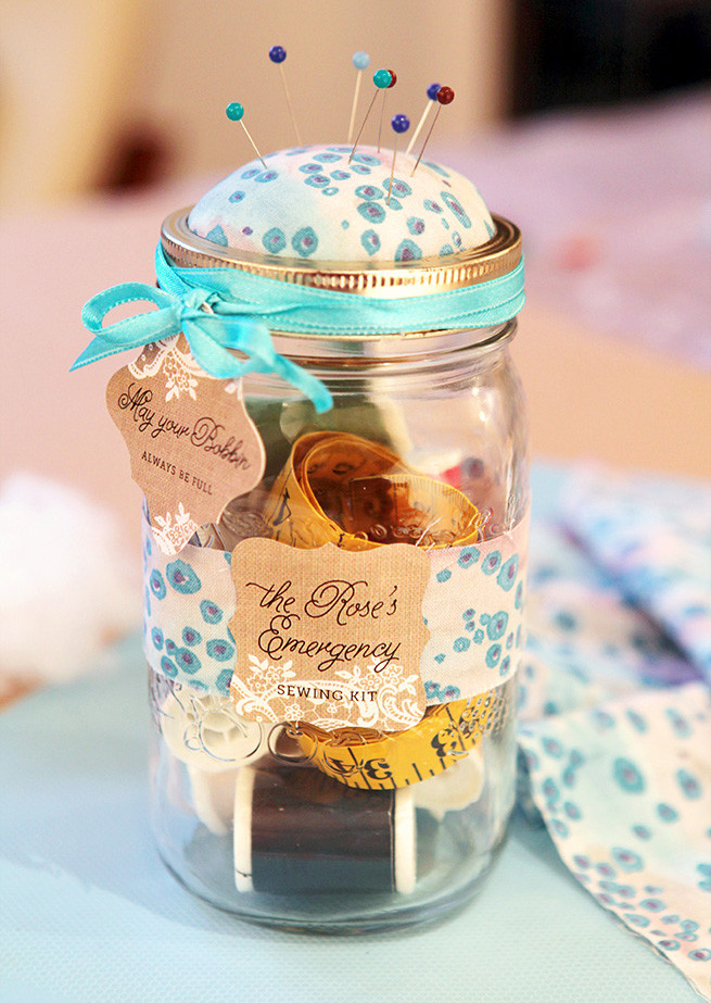 Best ideas about DIY Sewing Kit . Save or Pin DIY Mason Jar Sewing Kit Party Inspiration Now.