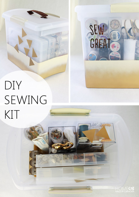 Best ideas about DIY Sewing Kit . Save or Pin IHeart Organizing UHeart Organizing DIY Sewing Kit Now.