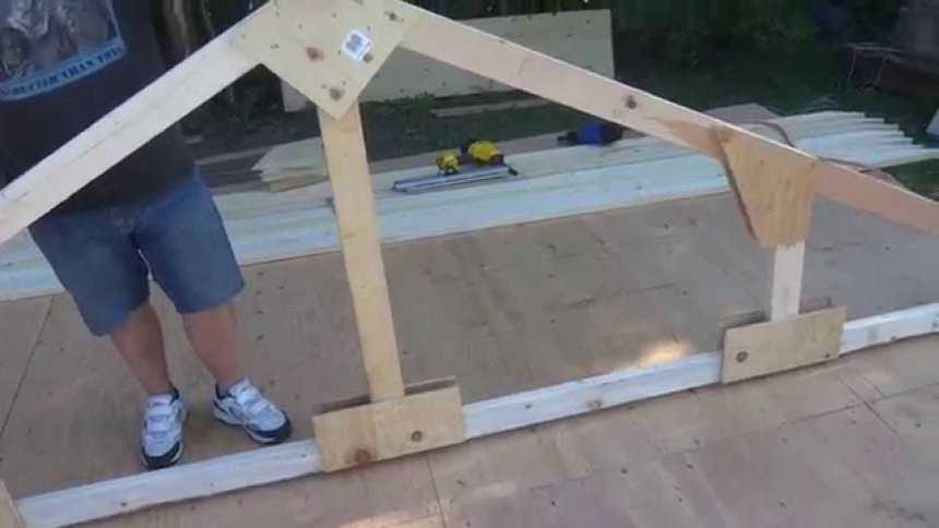 Best ideas about DIY Shed Cost Calculator . Save or Pin How To Build A Truss Roof Trusses For 10x12 Shed Now.