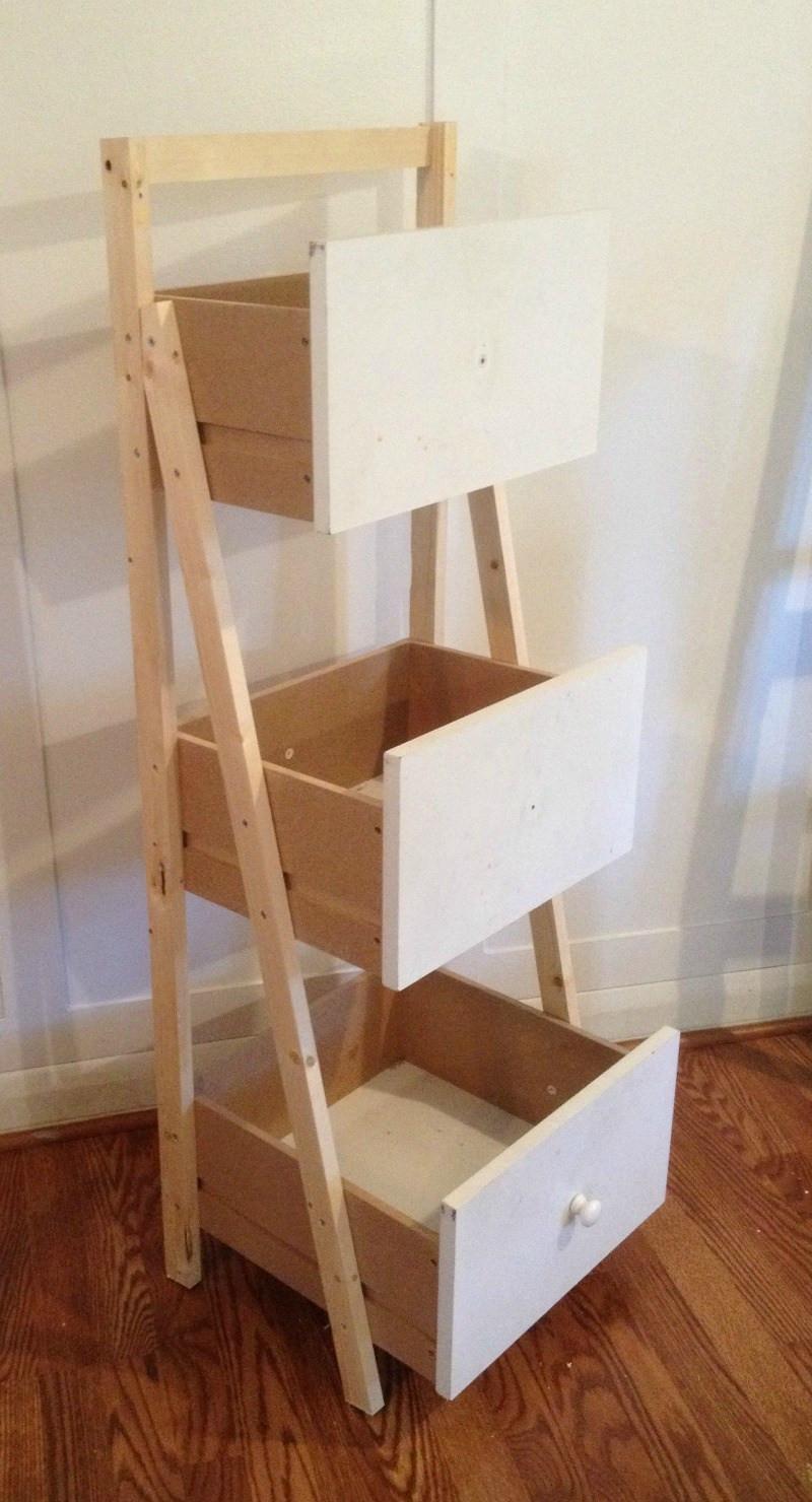 Best ideas about DIY Shelf Organizer . Save or Pin Ladder Shelf Organizer Monthly DIY Challenge Now.