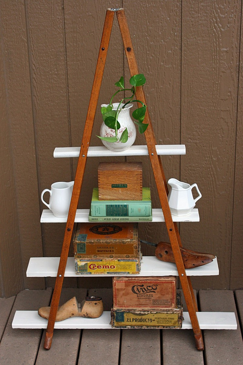 Best ideas about DIY Shelf Organizer . Save or Pin DIY Vintage Crutches Shelf Now.