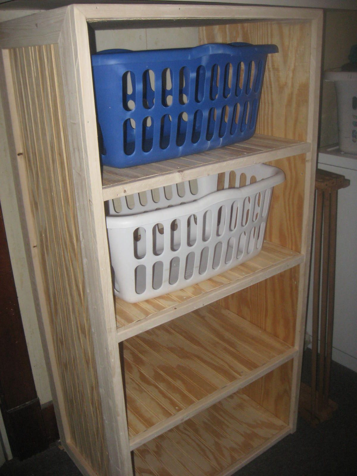 Best ideas about DIY Shelf Organizer . Save or Pin DIY Laundry Basket Shelves Now.