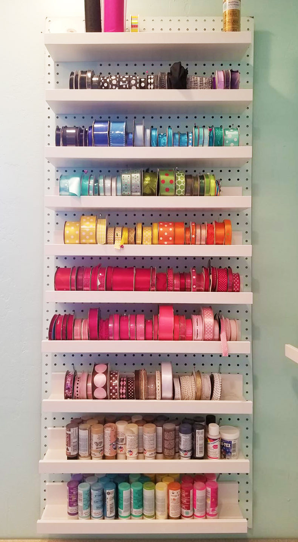 Best ideas about DIY Shelf Organizer . Save or Pin DIY Ribbon Storage Organizers Racks & Shelves Jennifer Now.