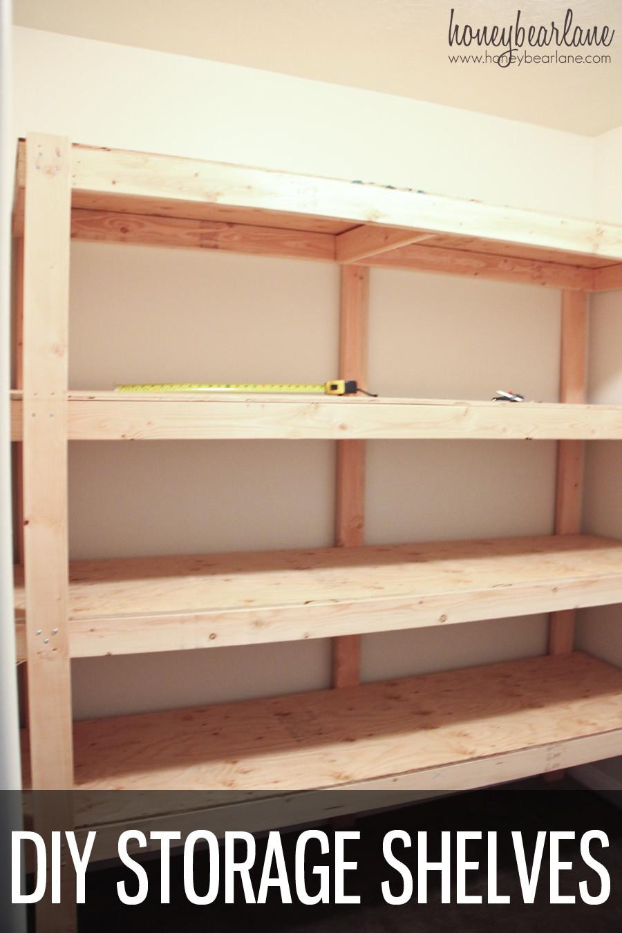 Best ideas about DIY Shelf Organizer . Save or Pin DIY Storage Shelves Honeybear Lane Now.