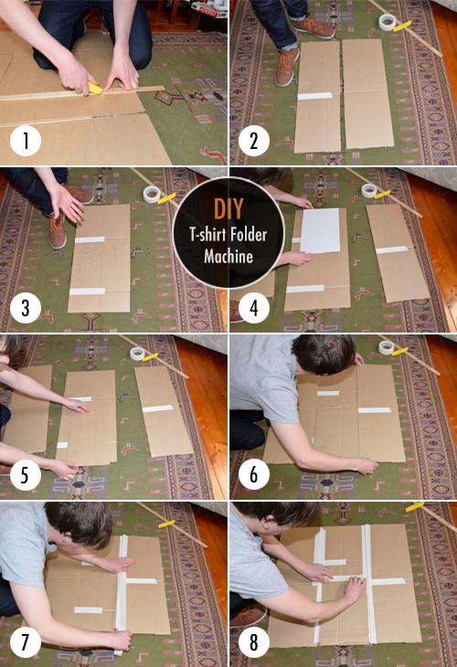 Best ideas about DIY Shirt Folder . Save or Pin Easy DIY T shirt Folder Machine DIY Now.