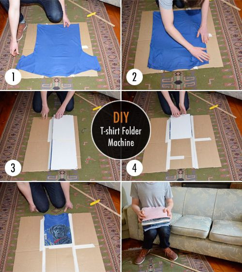 Best ideas about DIY Shirt Folder . Save or Pin Easy DIY T Shirt Folder Machine – HowToBePerfectWoman Now.