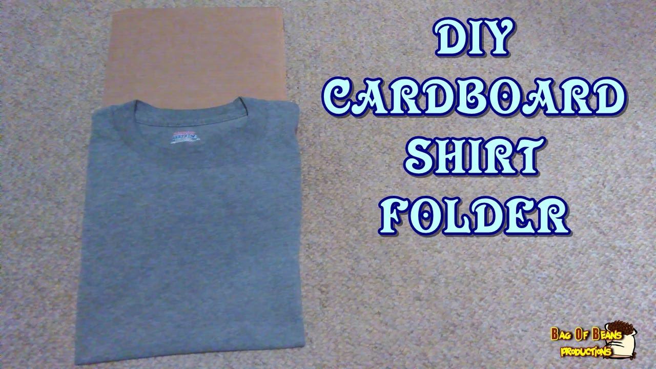 Best ideas about DIY Shirt Folder . Save or Pin DIY Cardboard Shirt Folder Now.