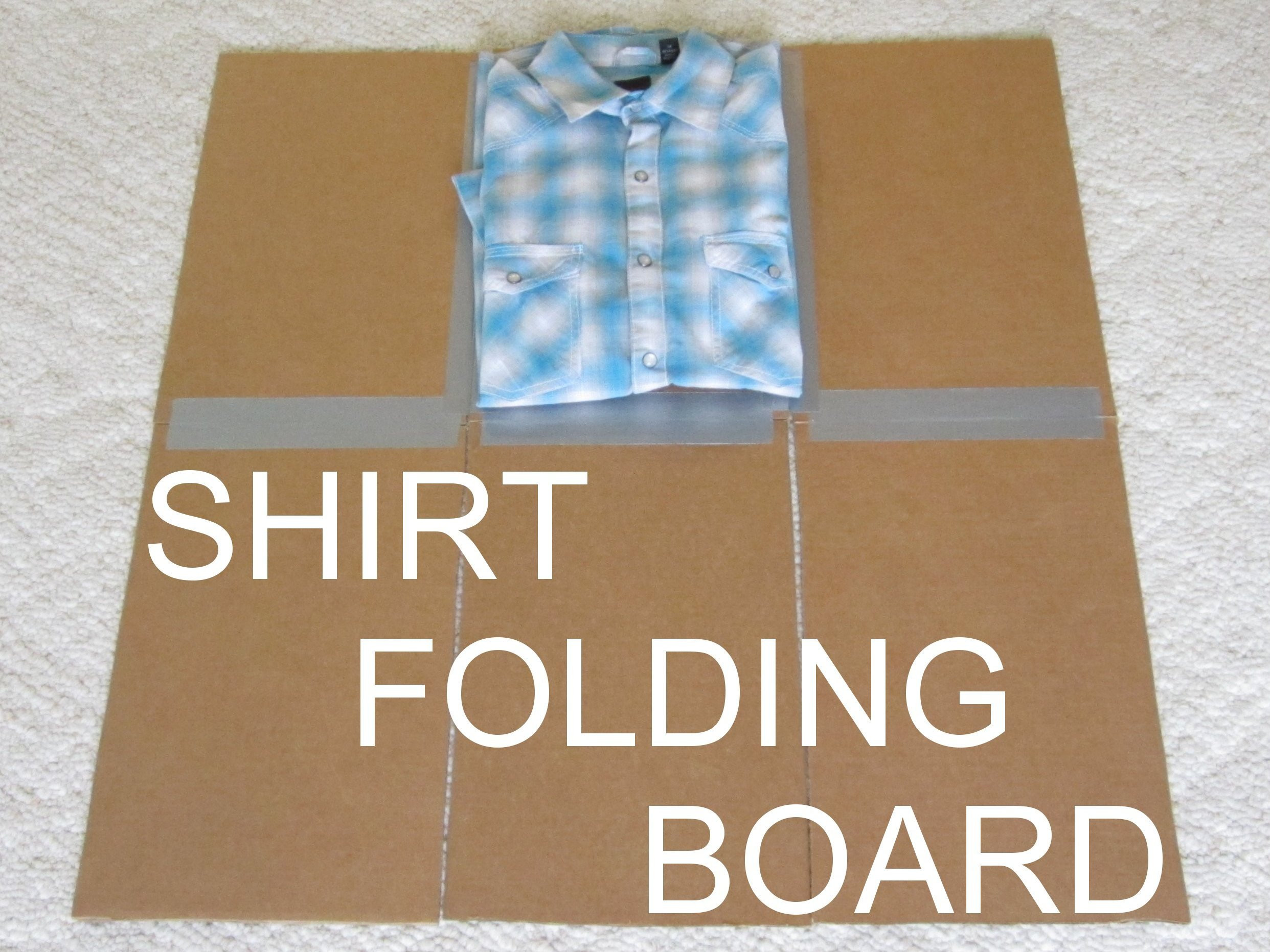 Best ideas about DIY Shirt Folder . Save or Pin DIY Clothes Folding Board Now.
