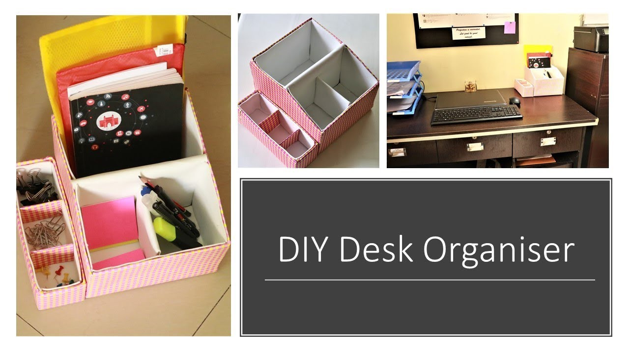 Best ideas about DIY Shoe Box Desk Organizer . Save or Pin DIY Multipurpose Desk Organizer From Shoe Box Now.