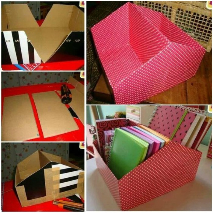 Best ideas about DIY Shoe Box Desk Organizer . Save or Pin Diy Shoebox Organizer DIY Projects Now.