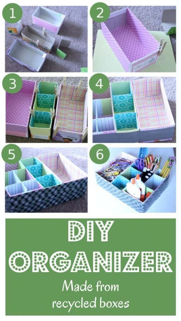 Best ideas about DIY Shoe Box Desk Organizer . Save or Pin DIY Table Top Organizer Made From Recycled Materials Now.