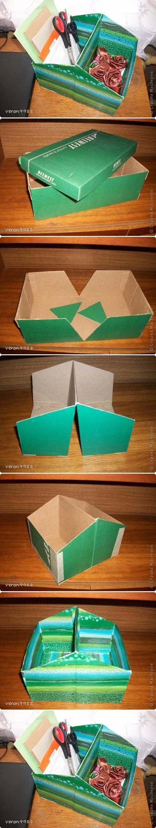 Best ideas about DIY Shoe Box Desk Organizer . Save or Pin DIY Shoe Box Organizer s and for Now.