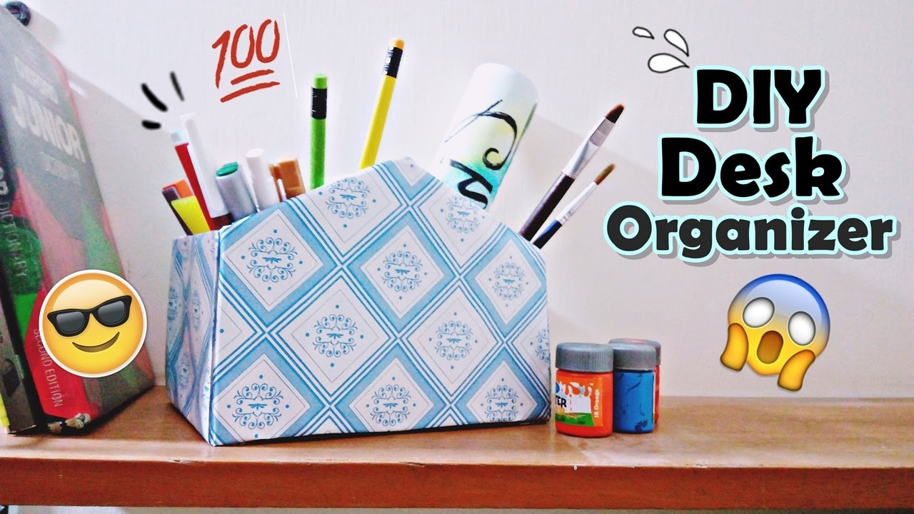 Best ideas about DIY Shoe Box Desk Organizer . Save or Pin DIY Desk Organizer form a Shoe Box Pen Holder Now.