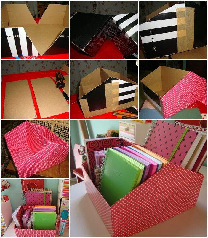 Best ideas about DIY Shoe Box Desk Organizer . Save or Pin Make This Shoe Box Book Organizer for Your Work Desk Now.