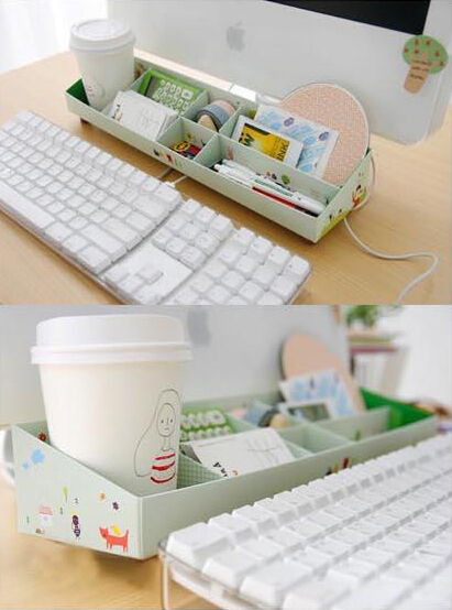 Best ideas about DIY Shoe Box Desk Organizer . Save or Pin DIY Paper Stationery Makeup estics Pen Desk Organizer Now.