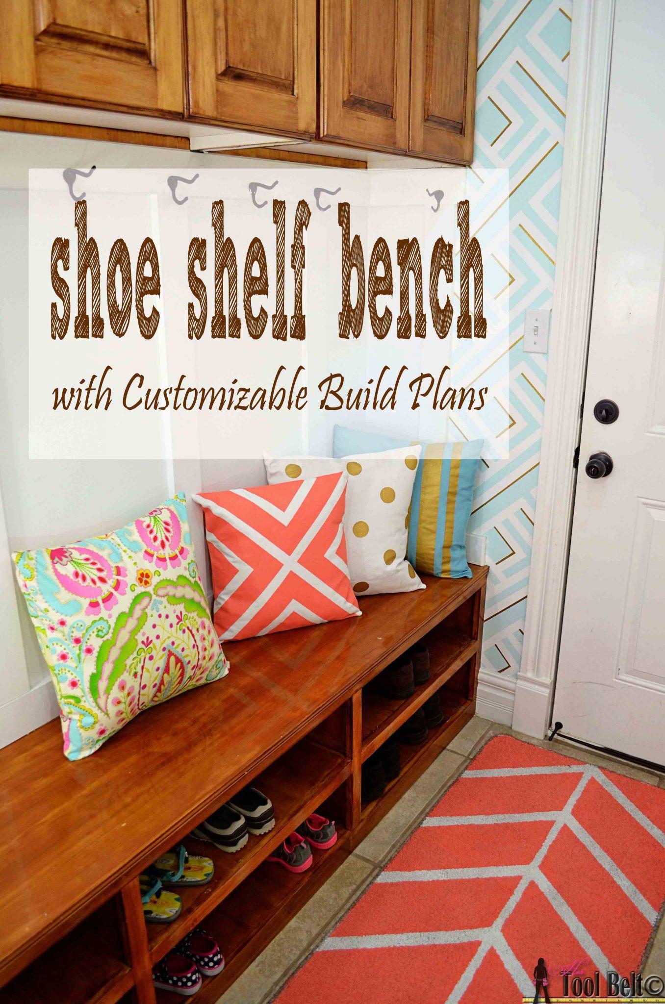 Best ideas about DIY Shoe Shelf . Save or Pin Shoe Shelf Bench Her Tool Belt Now.