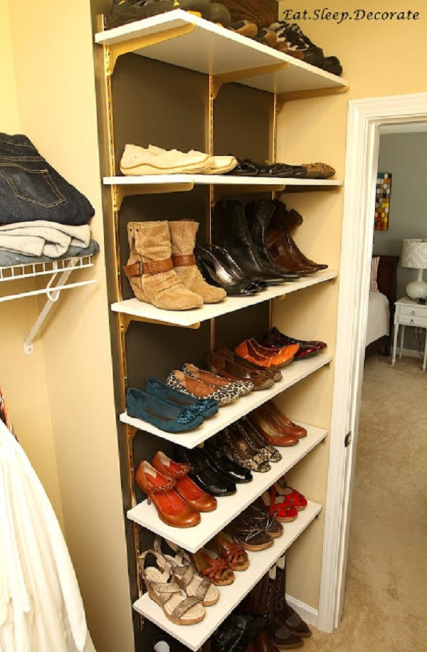 Best ideas about DIY Shoe Shelf . Save or Pin 62 Easy DIY Shoe Rack Storage Ideas You Can Build on a Bud Now.
