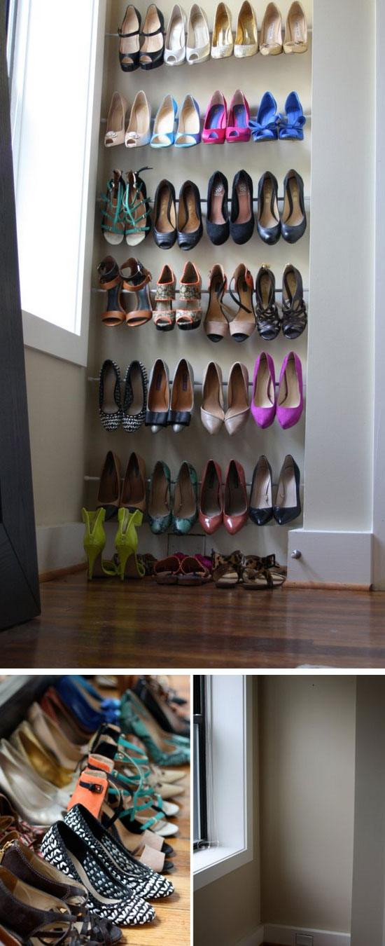 Best ideas about DIY Shoes Storage Ideas . Save or Pin 18 DIY Shoe Storage Ideas for Small Spaces Now.