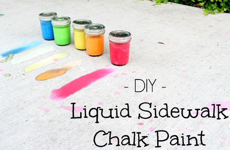 Best ideas about DIY Sidewalk Chalk Paint . Save or Pin 17 Best images about Mason Jar Crafts on Pinterest Now.