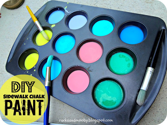 Best ideas about DIY Sidewalk Chalk Paint . Save or Pin RACKS and Mooby DIY Sidewalk Chalk Paint fun kid activity  Now.