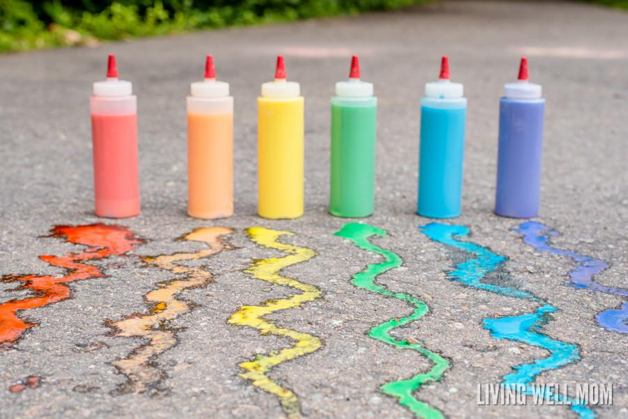 Best ideas about DIY Sidewalk Chalk Paint . Save or Pin DIY Sidewalk Chalk Paint for Kids in Less than 5 Minutes Now.