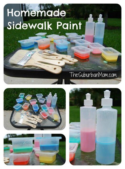 Best ideas about DIY Sidewalk Chalk Paint . Save or Pin Homemade Sidewalk Chalk Paint Way Fun TheSuburbanMom Now.