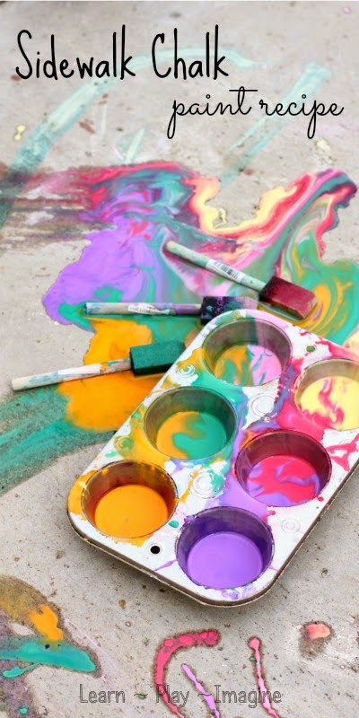 Best ideas about DIY Sidewalk Chalk Paint . Save or Pin Sidewalk Chalk Paint Recipe Learn Play Imagine Now.