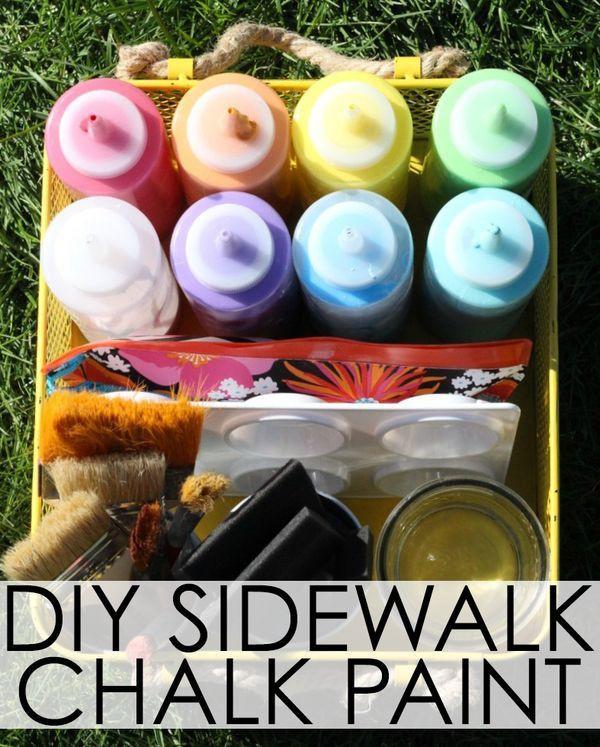 Best ideas about DIY Sidewalk Chalk Paint . Save or Pin DIY Sidewalk Chalk Paint Now.